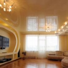 Натяжные потолки, основные свойства и преимущества